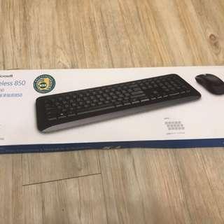Microsoft wireless 850 keyboard mouse set