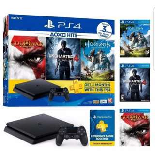 PS4 Slim 500GB Hits Bundle Console with 3 Games