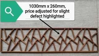 Zen Oriental Rectangular Wooden Panel