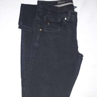 Pre-Loved ZARA Denim Pants (size 11-12/regular fit/Black)