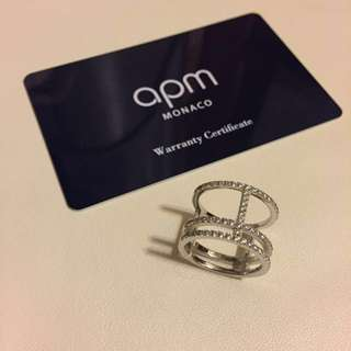 🈹APM iconic silver ring size 56