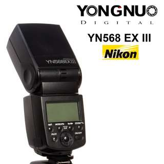 Yongnuo YN568EX III Version 3 iTTL Speedlite Flash for Nikon YN568 EX