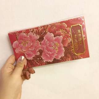 HL Bank Beautiful Big Floral Red Packet Angpow Paper
