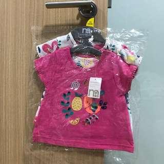 Mothercare TShirts - Set of 2 (3-6M)
