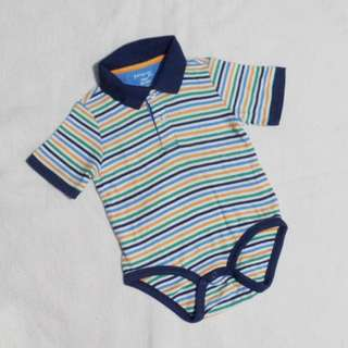 First Impressions Play Polo Shirt Style Romper