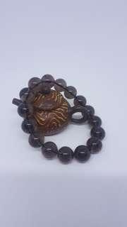 13mm 茶晶 手珠 手鍊