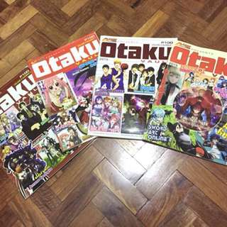 Set of 4 Otaku Magazine w/posters