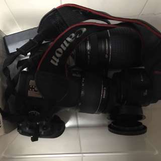 Canon 600D with lens (18-55)(75-300)(one original battery) (original charger)(manual)