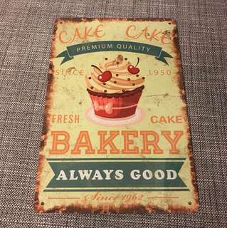 BN Cake Bakery always good tin sign metal signage 20x30cm