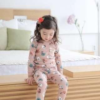 [Ready Stock] Kids Sleepwear for 2 - 12 yrs old - Pink Apple Tree