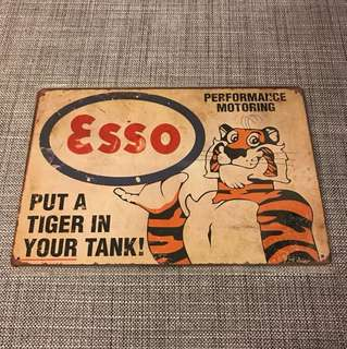BN Esso put a tiger in your tank tin sign 20x30cm