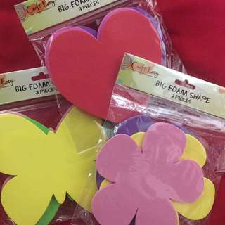 Big Foam Shapes Bundle (Heart, Flower, Butterfly)