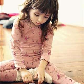[Ready Stock] Kids Sleepwear for 2 - 12 yrs old - Pink Flower