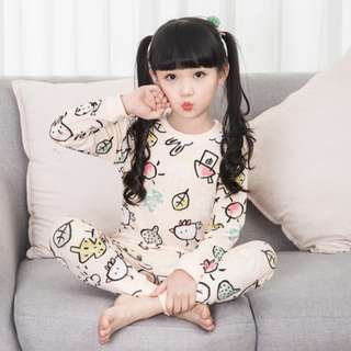 [Ready Stock] Kids Sleepwear for 2 - 12 yrs old - Pink House
