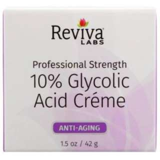 Reviva Labs, 10% Glycolic Acid Cream, 1.5 oz (42 g)