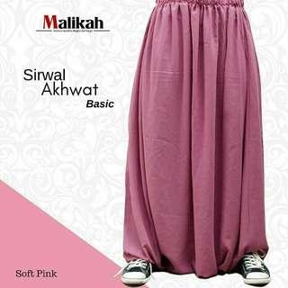 Sirwal akhwat soft pink L by malikah