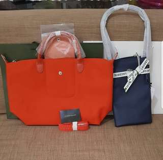 Lacoste and Longchamp Neo MSH Bags
