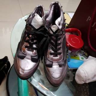 Gosh silver rock n roll shoes sneakers