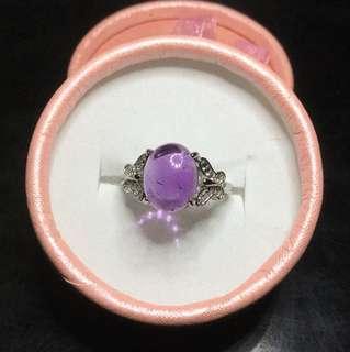 🚚 清倉促銷。紫水晶🔮925銀戒