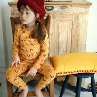 [Ready Stock] Kids Sleepwear for 2 - 12 yrs old - Yellow Fox