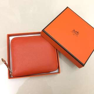 Hermes Short Silk Wallet 短銀包 Colour Feu not Chanel Prada