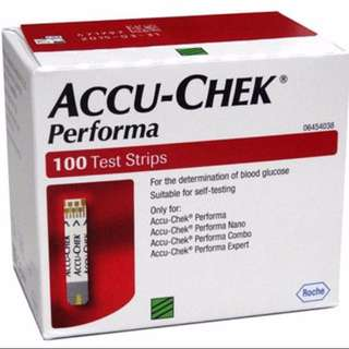 Accu-chek Performa 100 Test Strips (Expiry 2018 Dec)