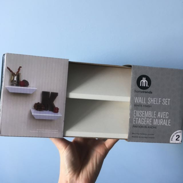 2 White Shelves- in box