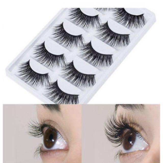 4 Pairs Handmade Thick Long False Eyelashes Mink Eye Lashes