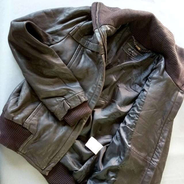 深黑灰軟羊皮真皮女夾克外套