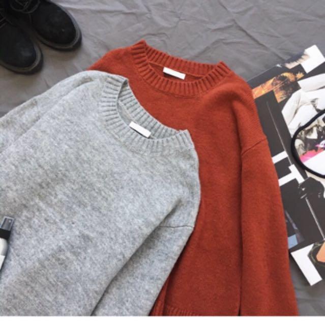 韓版素色針織毛衣