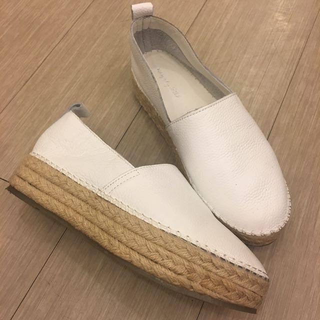 厚底草鞋白色好搭款