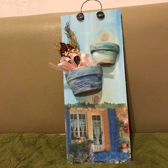 手工木板掛飾 藝術品 吊飾