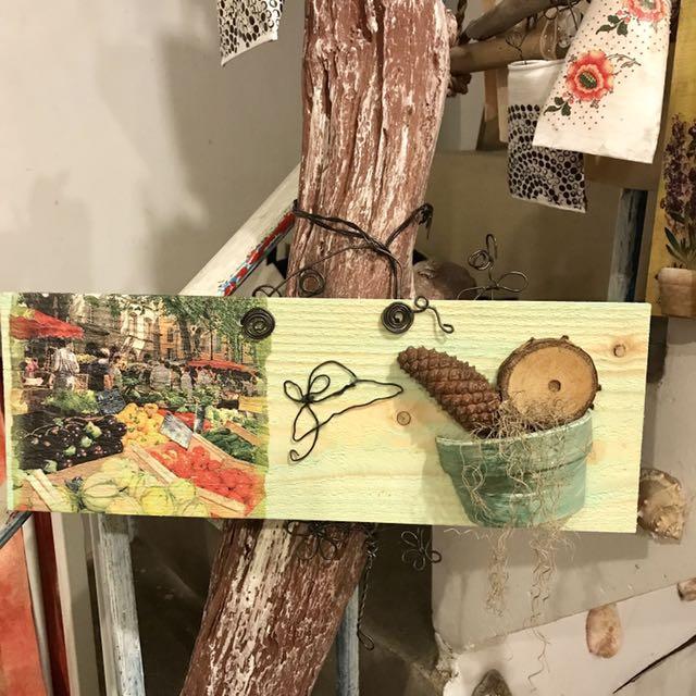 手工木板掛飾 吊飾 藝術品
