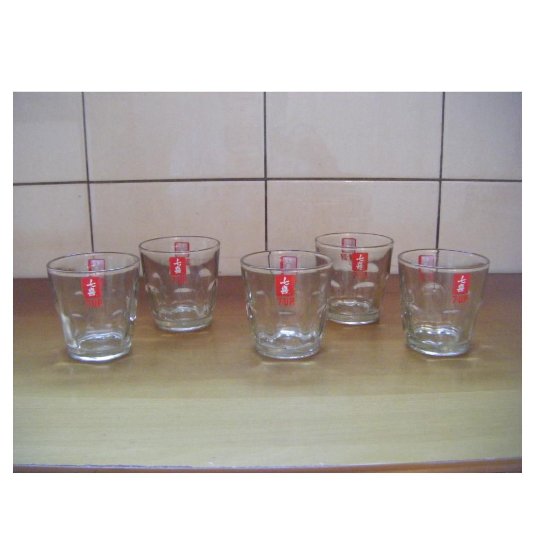 雙喜 - 七喜 玻璃杯 (5個一起賣)