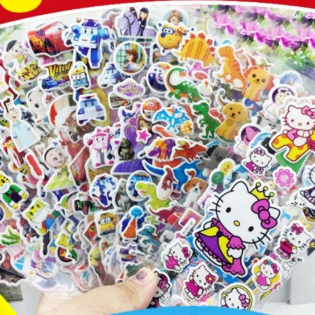 免運 兒童貼紙 卡通貼紙 獎勵貼紙 立體泡泡貼