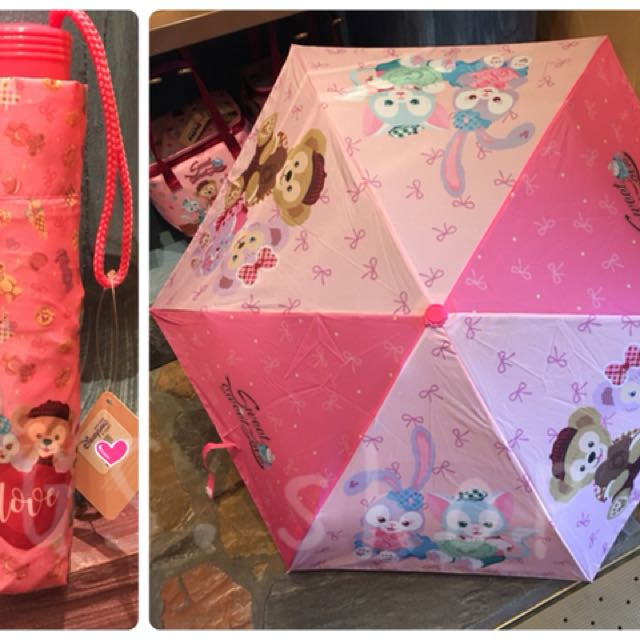 🇭🇰 香港迪士尼 ✨ 情人節 達菲 雪莉梅 雪莉玫 畫家貓 雨傘