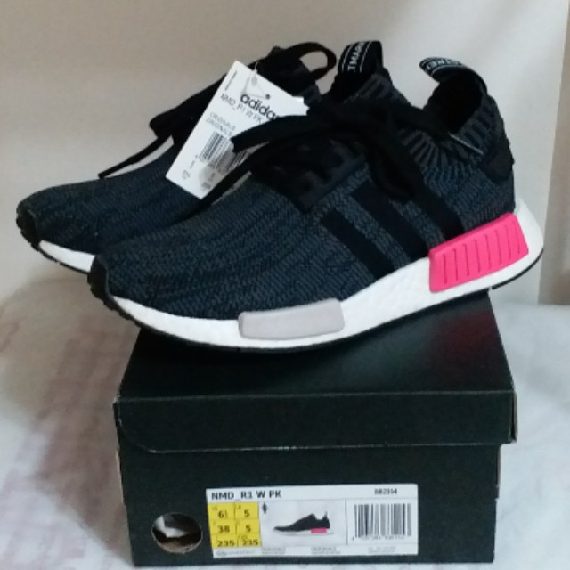 df2faa866070f 全新女裝Brand New Women Adidas NMD R1 W Primeknit Black Shock Pink ...
