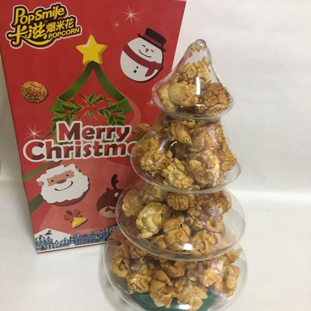 卡滋聖誕小樹爆米花 焦糖牛奶 PC免運價