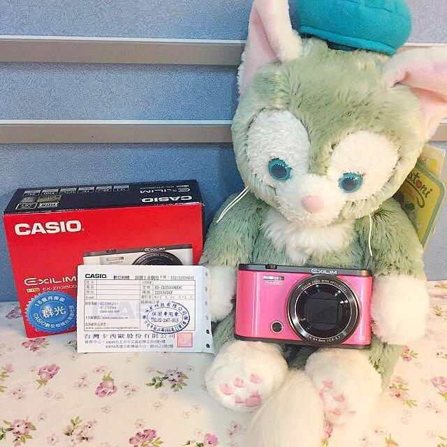 公司貨 Casio zr3500 桃粉色 美顏翻轉相機