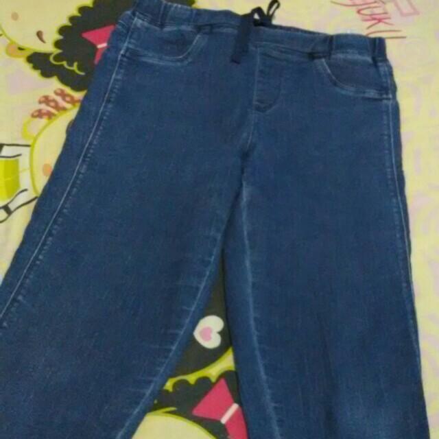 ❤ Celana Jeans Anak 7/8 Stretch Uniqlo Navy