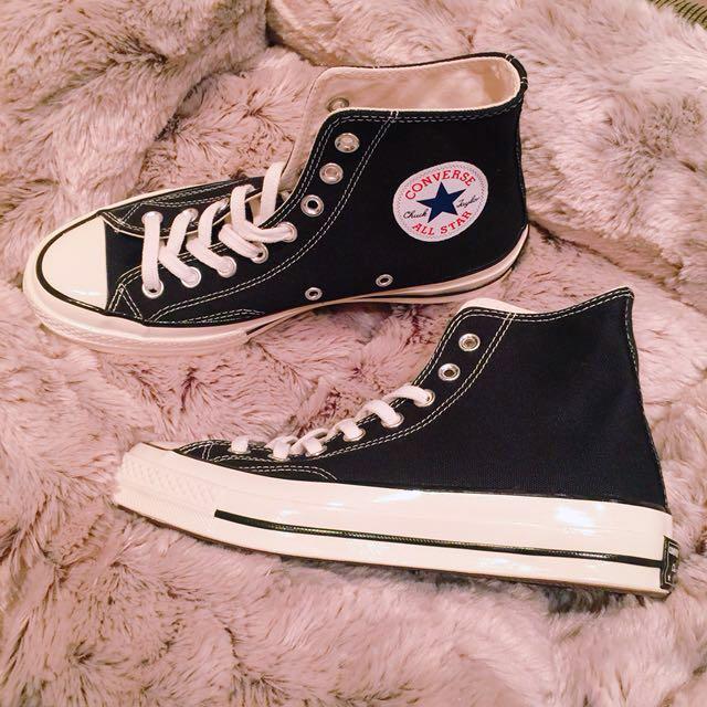 全新 Chuck Taylor 1970' 黑色高筒奶油頭帆布鞋