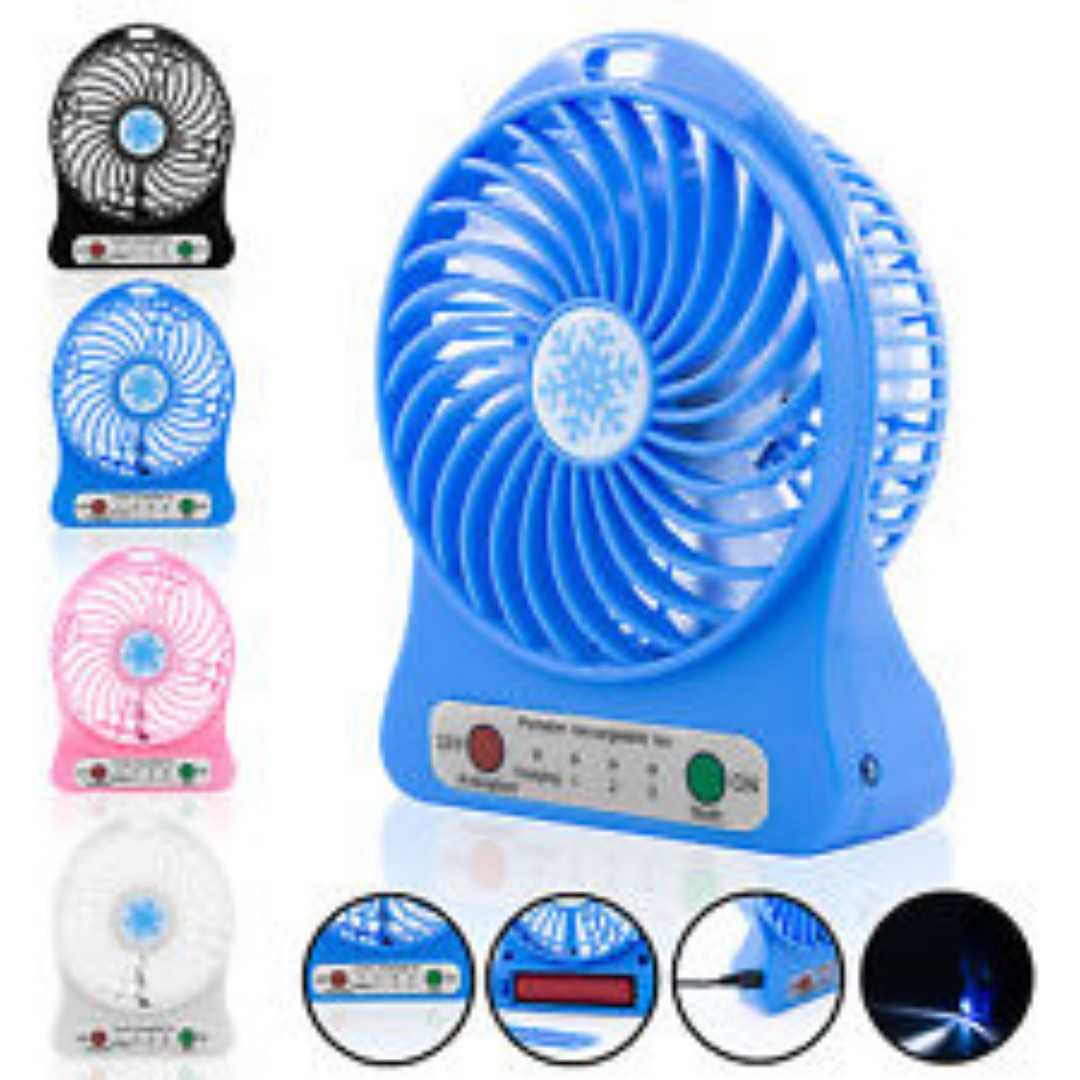 🔥 Clearance SALES While Stock Last Rechargeable Portable Fan Kipas Mini 3-speed