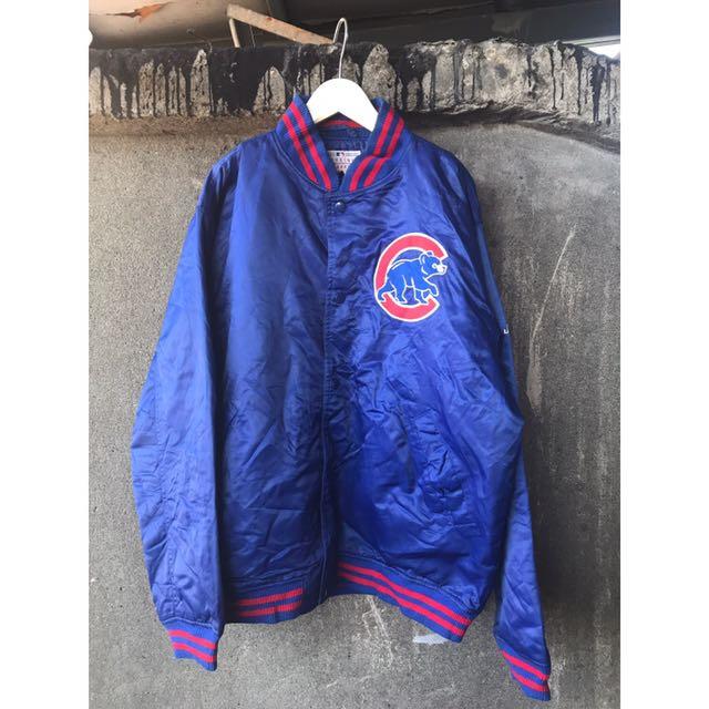 日本古著 Osaka 藍色棒球外套