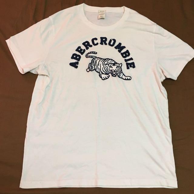 Abercrombie 白色老虎T