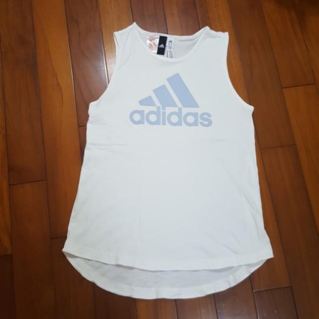 Adidas 大logo背心