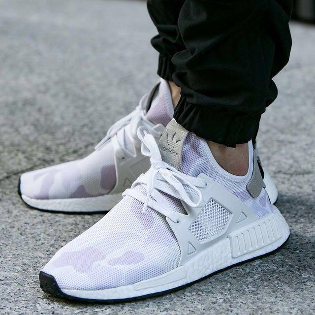 Adidas Nmd Rt Duck Mimetico In Bianco (Maglietta Mai Indossata Finora) Us12, Moda Maschile