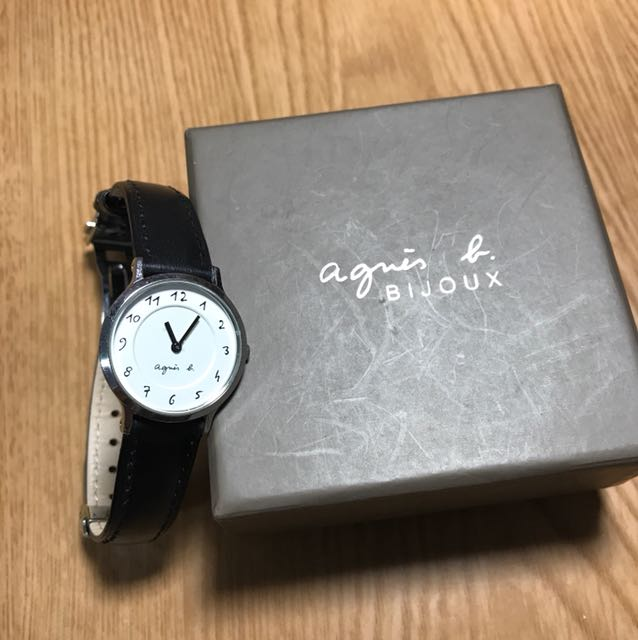 Agnes b.黑白復古圓形時尚錶面(八成新)