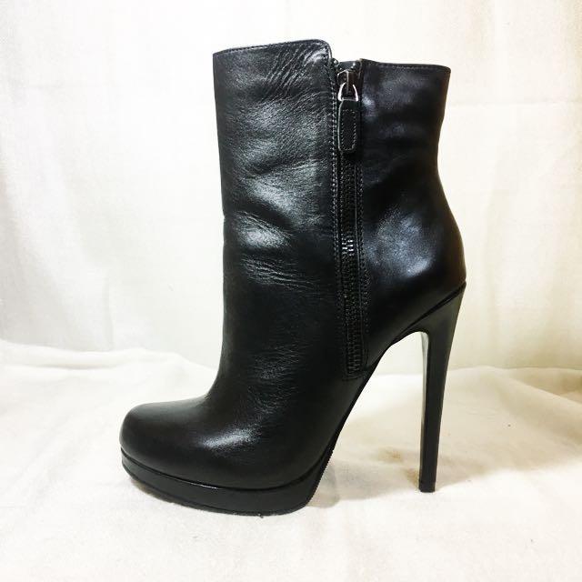 《近全新》ALDO 黑色 高跟 細跟 短靴 踝靴 22.5