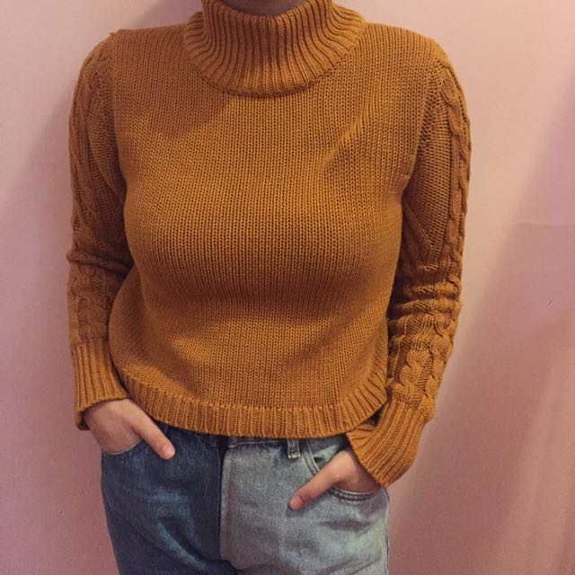 all about eve Mustard Sweater
