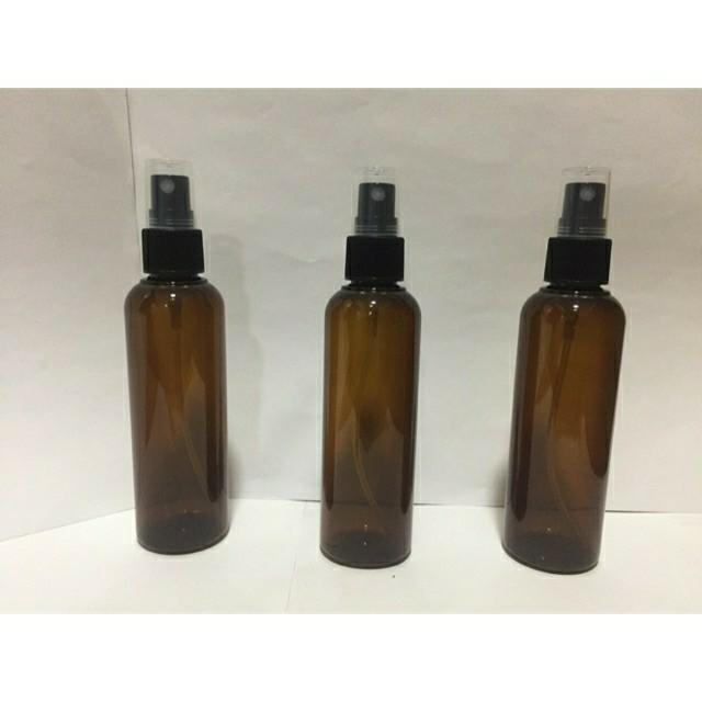 Amber Spray Bottle 100mL PET Plastic